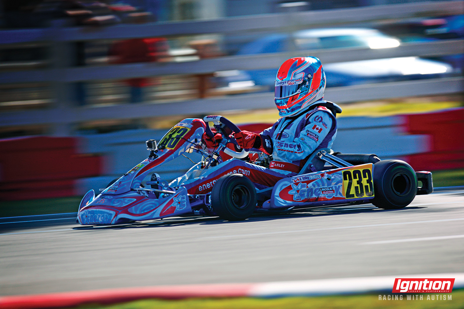 Austin Riley Racing with Autism karting