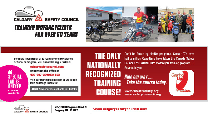 Calgary Safety Council Motorcycle Training